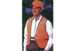 Orange Nylon Mesh Safety Vest