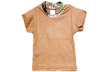 Short Sleeve Brown Tee W/camo Mossy Oak Breakup 2t-3t