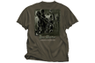 Bowhunter Dominate Woods Tshirt Olive Adult Large