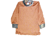 Long Sleeve Brown Tee W/camo Mossy Oak Breakup 6-7 Years