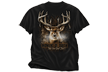 Moment Of Truth Deer Tshirt Black Adult Xlarge