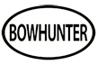 Bowhunter Oval Decal White 6x3.5