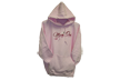 Script Ladie Hoodie Pink/chocolate X-large