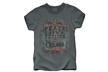 Crush Peace, Love, Venison Tshirt Charrcoal Medium