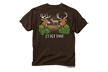 Hit That Deer Tshirt Dark Chocolate Large