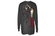 Primos Deer Skull Long Sleeve T Shirt Charcoal Xxlarge