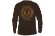 Mens Browning Long Sleeve Tshirt Chocolate Large