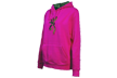 Girls Youth Buckmark Camo Sweat Shirt Fuchsia Medium
