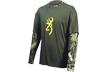 Youth Camo Layered L/s Tshirt Breakup Infinity W/moss Large
