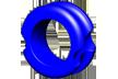 "G5 Meta Peep Hunter 3/16"" Blue"
