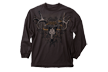 Extreme Whitetail Hunter Long Sleeve Tshirt Chocolate Large