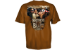 Duck Dynasty Beard Brother S/s Tshirt Texas Orange Xlarge