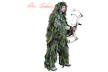 Ghillie Suit Pants Fall Camo Xlarge/2xlarge